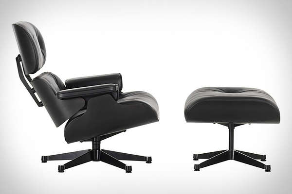 Eames Black Ash Lounge Chair & Ottoman