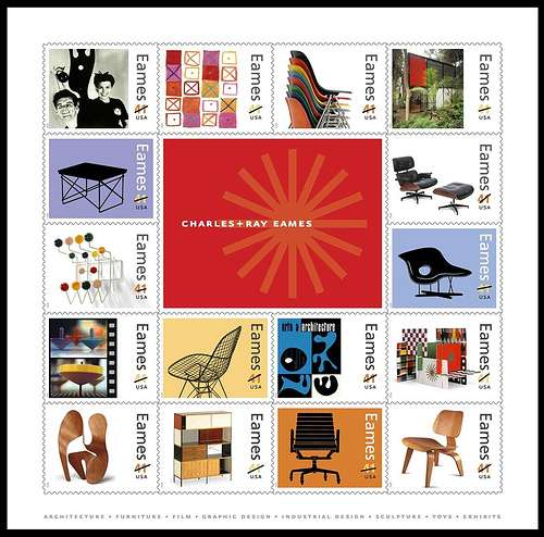 Designer tribute stamps us post honour eames for Post office design your own stamps