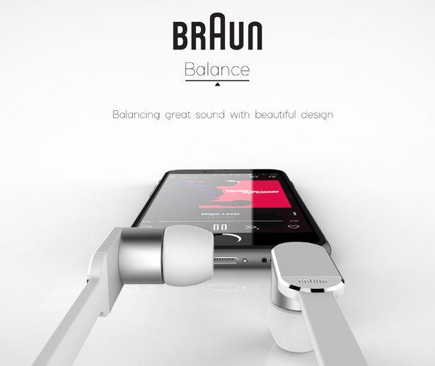 Conceptual Branded Earphones