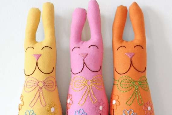 Festive Rabbit Plush Dolls