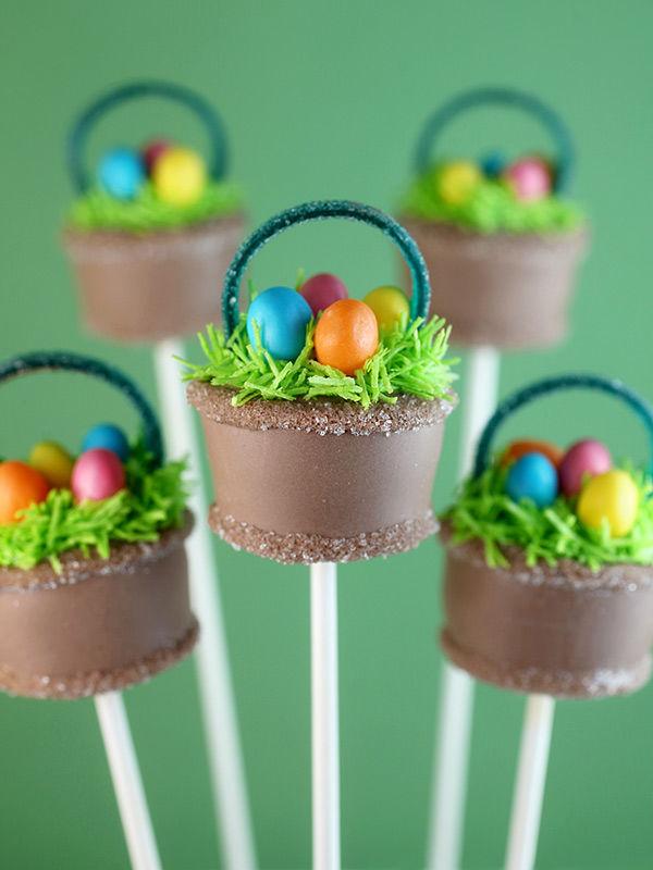 Miniature Basket Cakes Easter Cake Pop