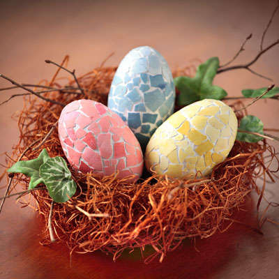 Colorfully Cracked Easter Eggs