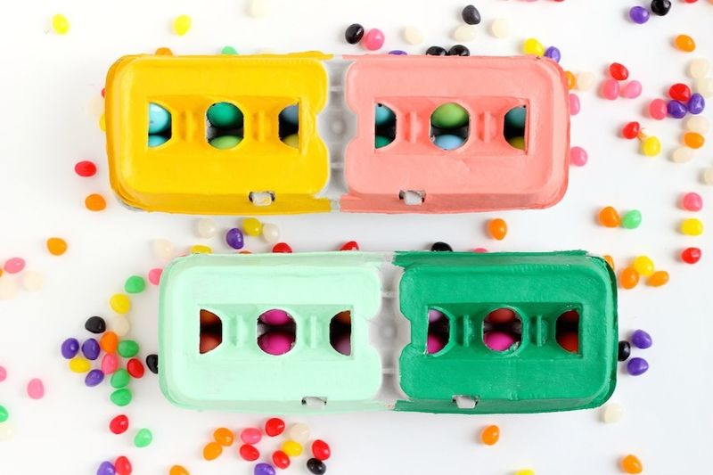 Hand-Painted Egg Cartons