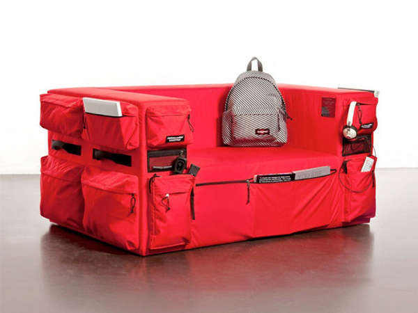 Comfortable camping couches eastpak sofa for Cool small sofas
