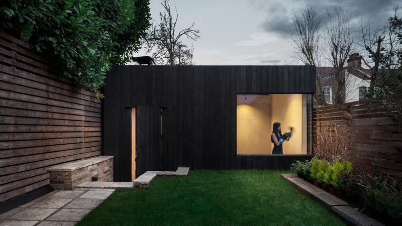 Wood-Clad Garden Gyms