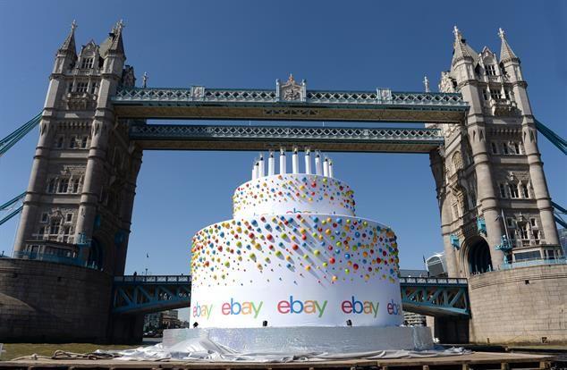 Floating Website Birthday Cakes