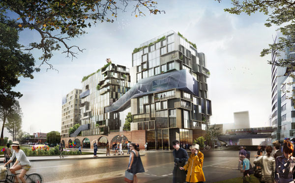Transparent Path-Connected Buildings