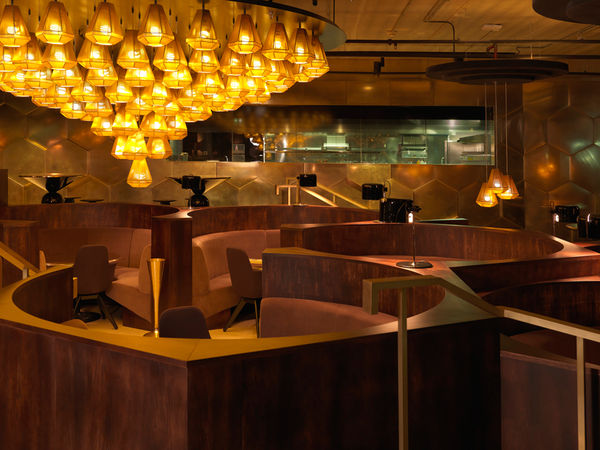 Glamorous Honeycomb Eateries
