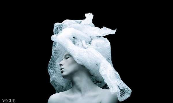 Bubble Wrap Headdresses