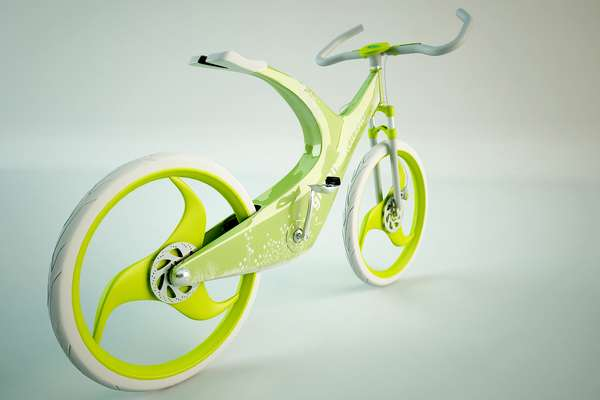 White Eco Bicycles