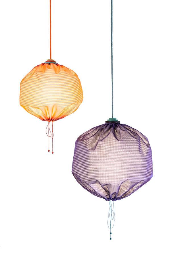 Parachute Sack Lampshades