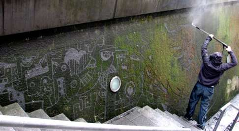 Literal Green Graffiti