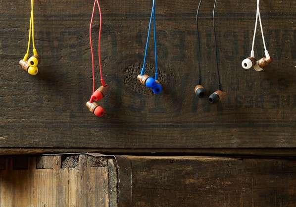 Eco-Friendly Timber Earbuds
