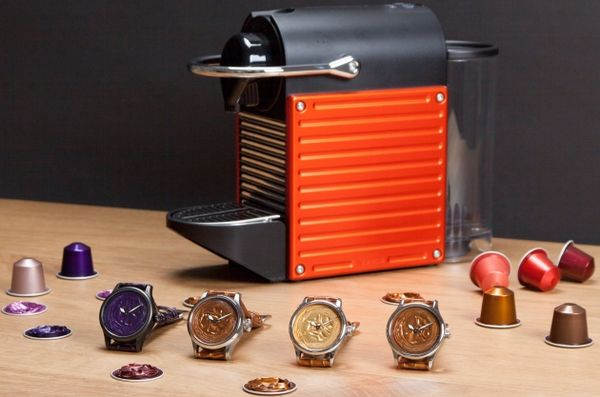 Recycled Coffee Capsule Watches