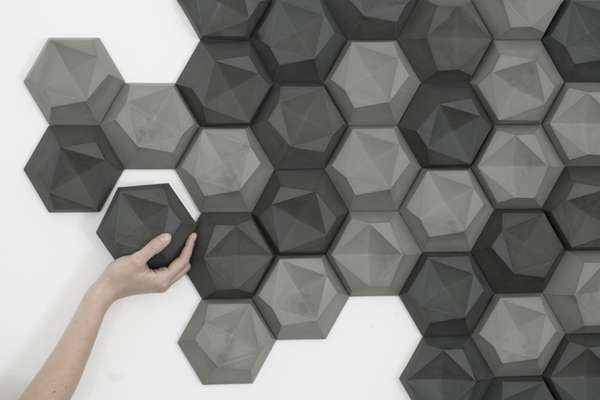Wall-Mounted Geometric Projections