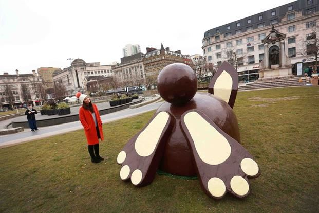 Chcolate Bunny Statue Activations