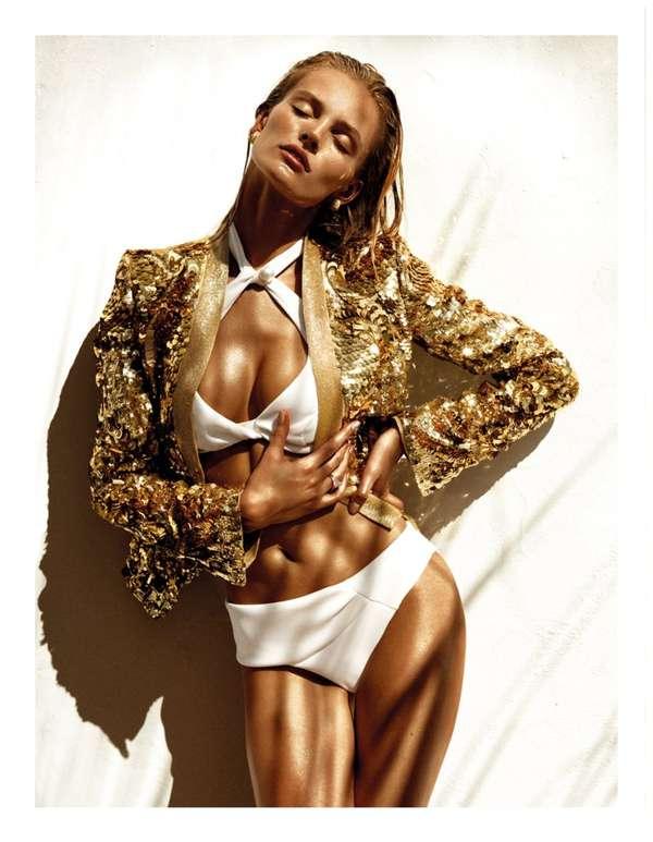 Shimmering Sweaty Swimsuits