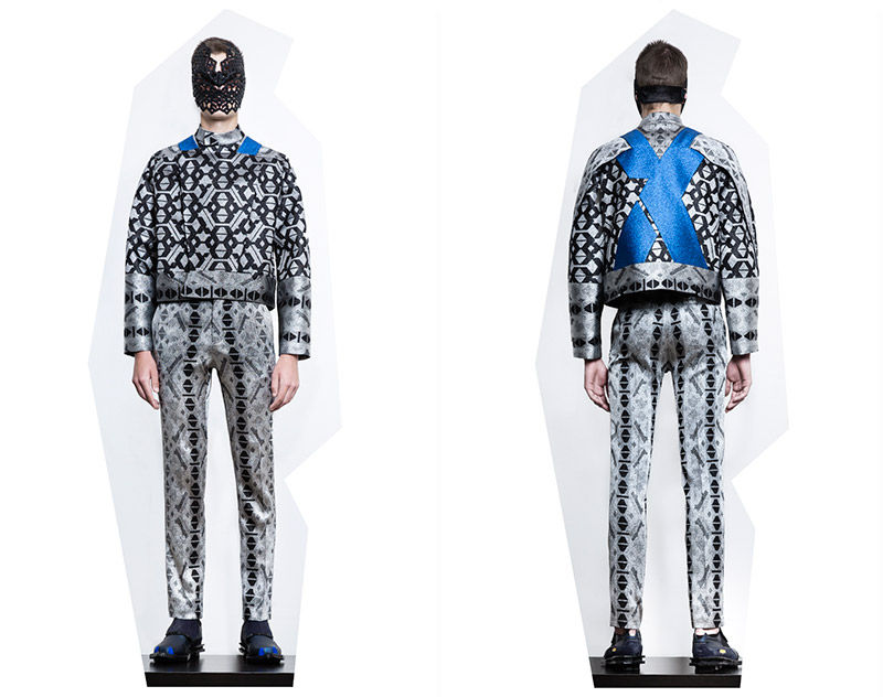 Futuristically Patterned Menswear