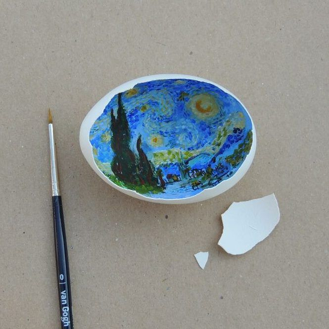 Classical Egg Shell Art
