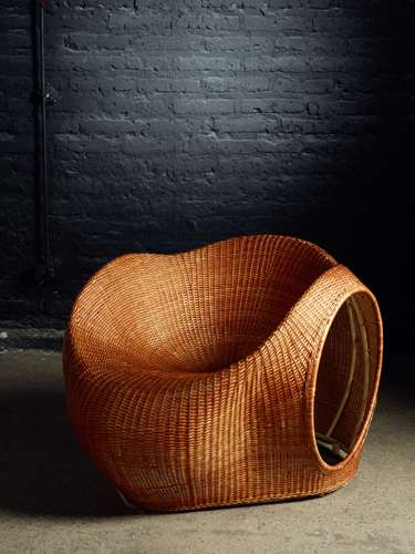 Sculptural Wicker Loungers
