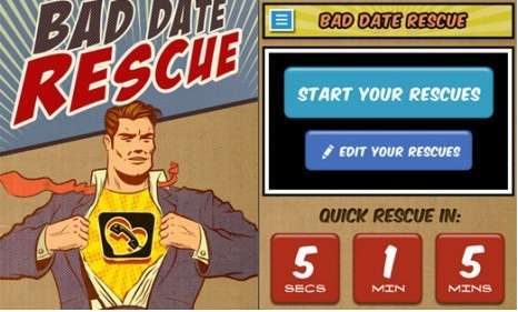 eHarmony Bad Date Rescue App