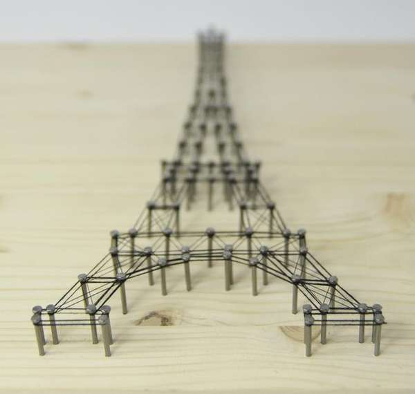 3d architectural wall art eiffel tower picture. Black Bedroom Furniture Sets. Home Design Ideas
