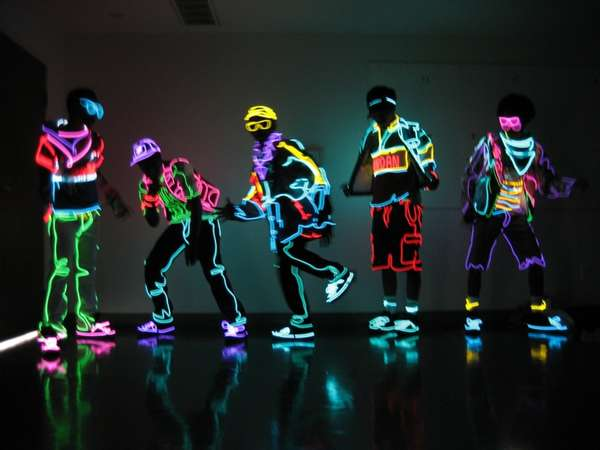 Glow-in-the-Dark Dancers