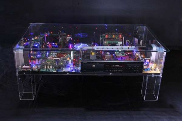 Electronic diorama furniture electri city table - Tables basse de salon ...