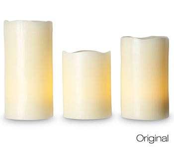 Faux-Lit Candles