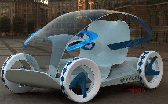 Transparent Eco Cars Element Concept Car