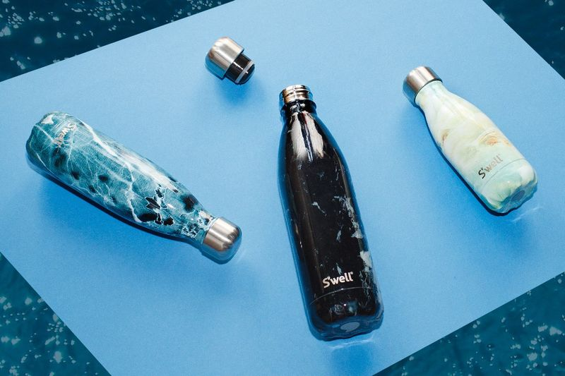 Marble Water Bottles