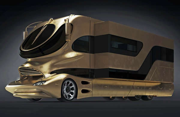 Million dollar gold motorhomes elemment palazzo for Million dollar motor coaches