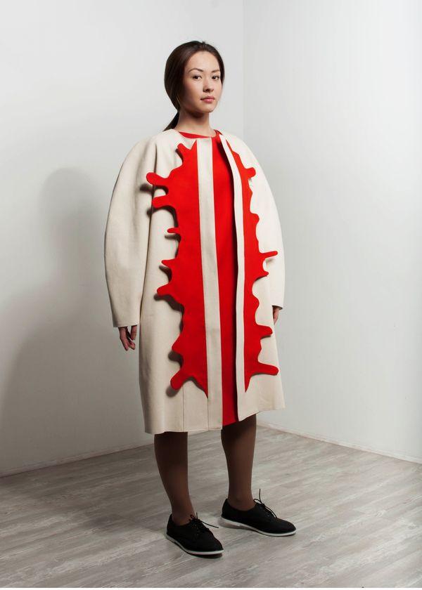 Sculpturally Splattered Fashions