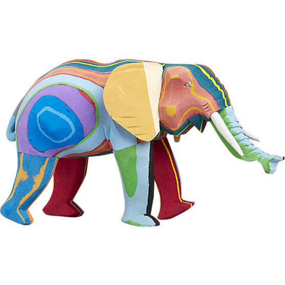 Sustainable Pop Art Decor Elephant Sculpture