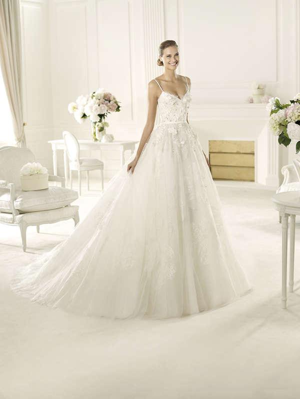 Frothy floral wedding gowns elie by elie saab 2013 bridal for Elie saab wedding dress 2013