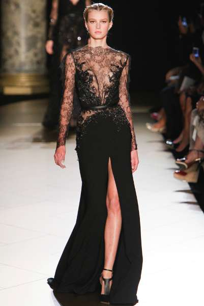 Skin-Grazing Beaded Gowns