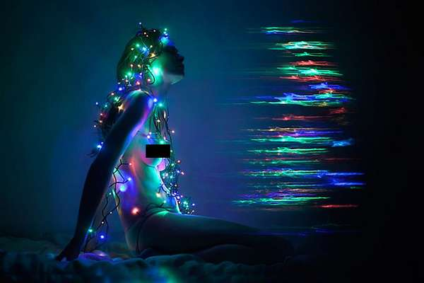 Exposed Christmas Light Pictorials