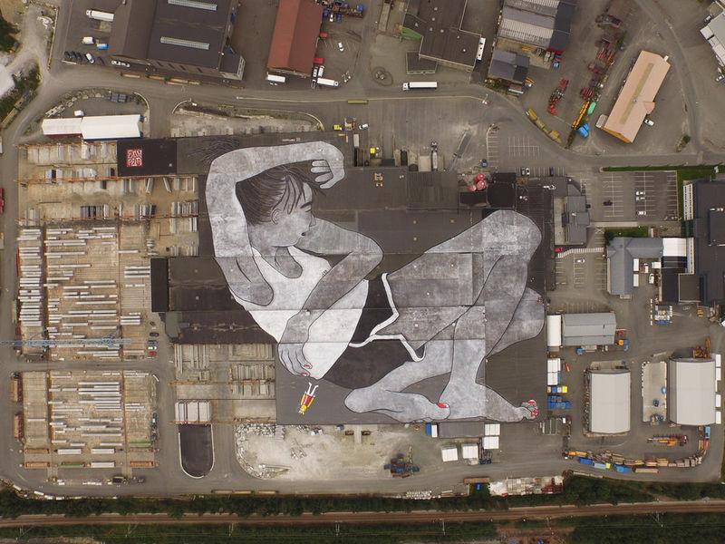 Massive Rooftop Murals