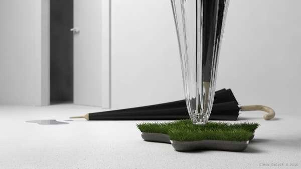 Grass-Growing Umbrella Stands