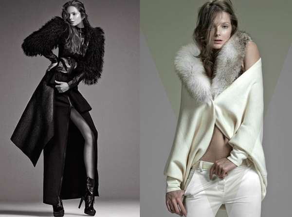 Skin-Baring Fur Fashion