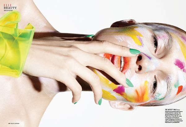 Eccentric Painted Face Editorials
