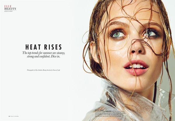 Dewy-Skinned Beauty Editorials