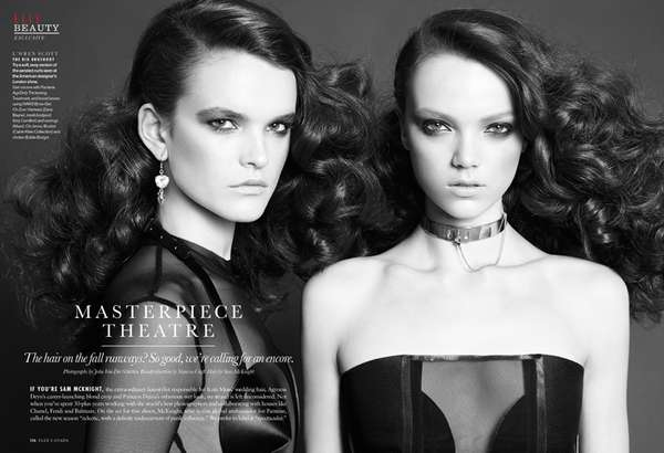 Dramatic Hairstyle Editorials