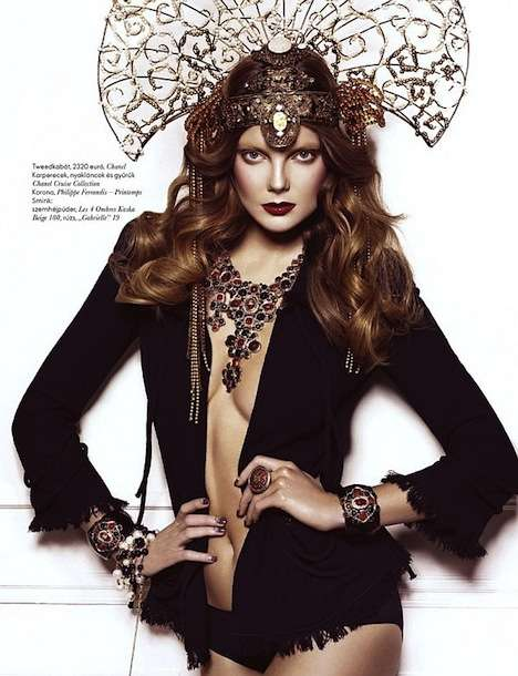 Diamond-Encrusted Headdresses