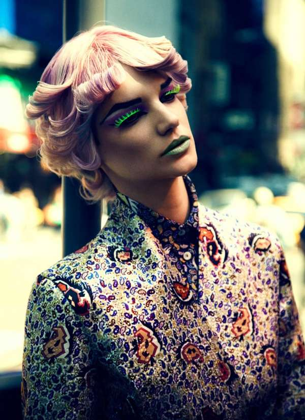Brightly Patterned Punk Editorials