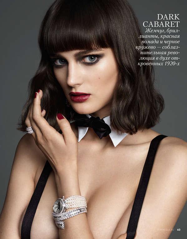 Glam Black Lingerie Photoshoots