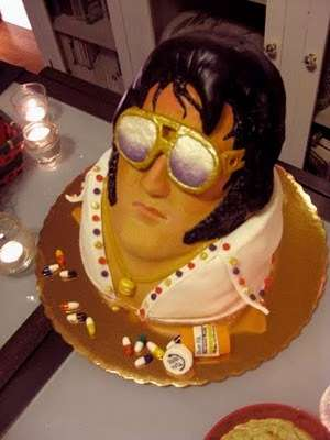 Dead Celebrity Confections The Elvis Cake Includes