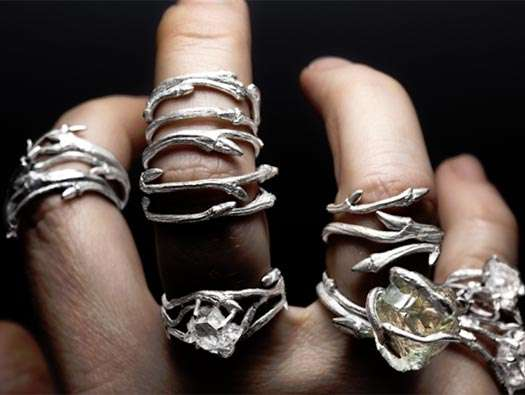 Twining Vine Jewelry Elvish Rings