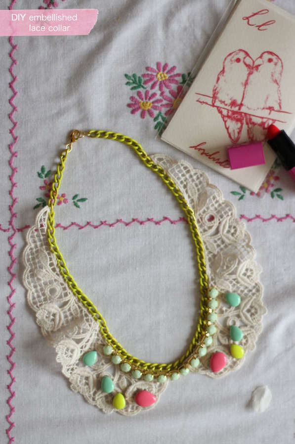Beautifully Embellished DIY Collars