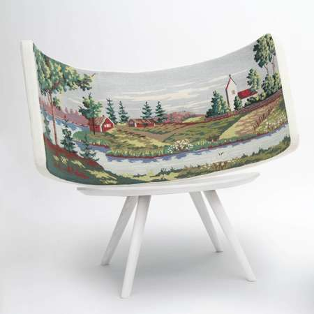 Embroidered Landscape Chairs